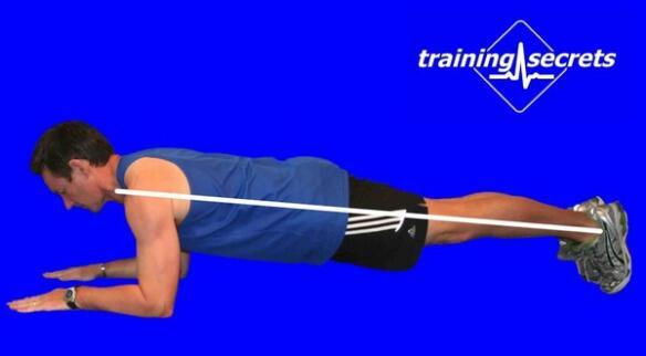 健身教练培训平板支撑